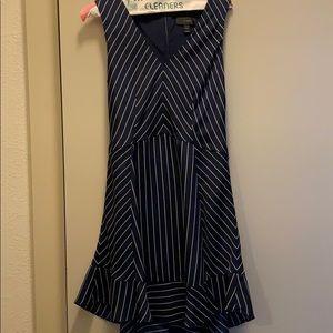 Jcrew Navy stripe silk dress